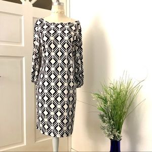 Enfocus geometric pattern dress
